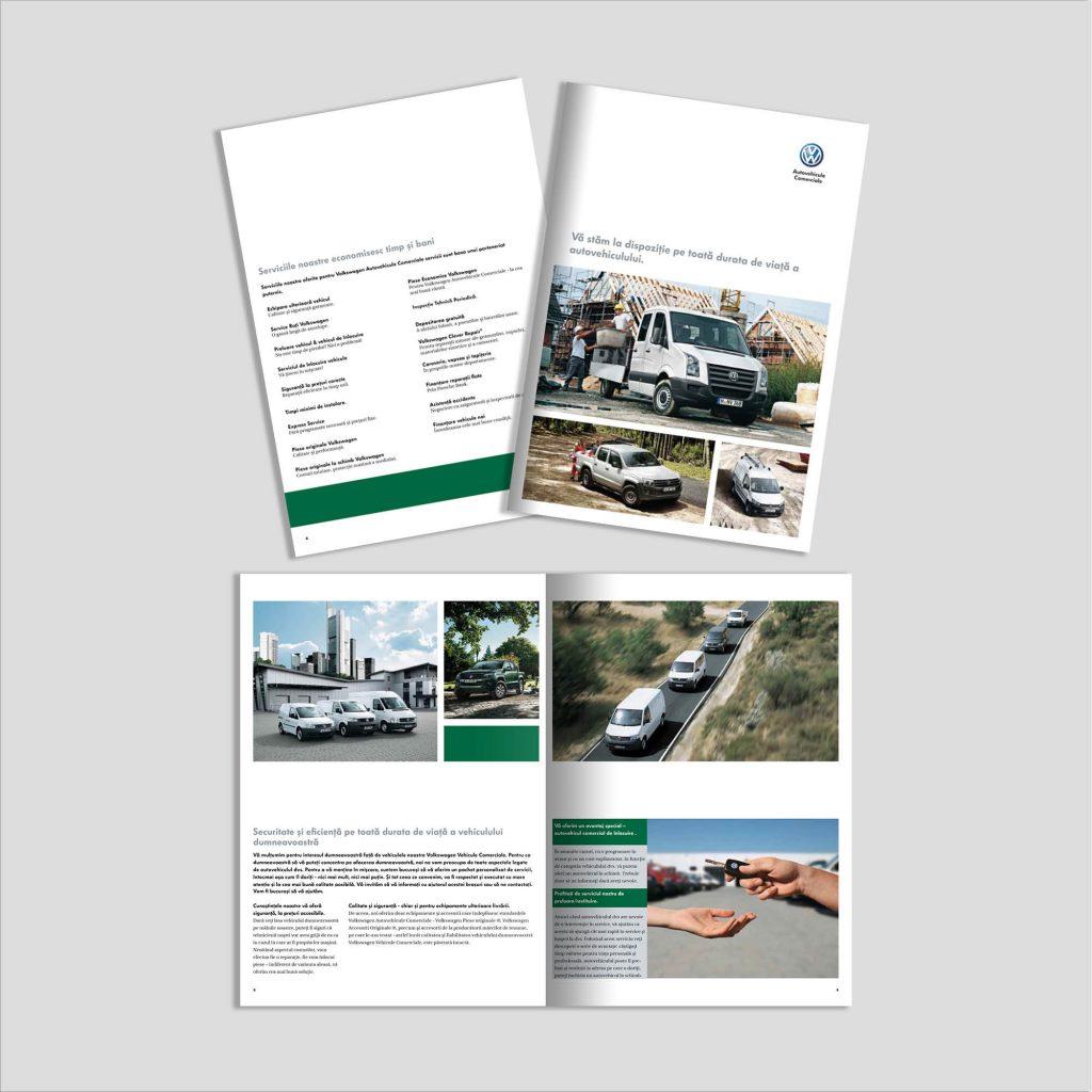 Graphic Design broșură domeniul auto