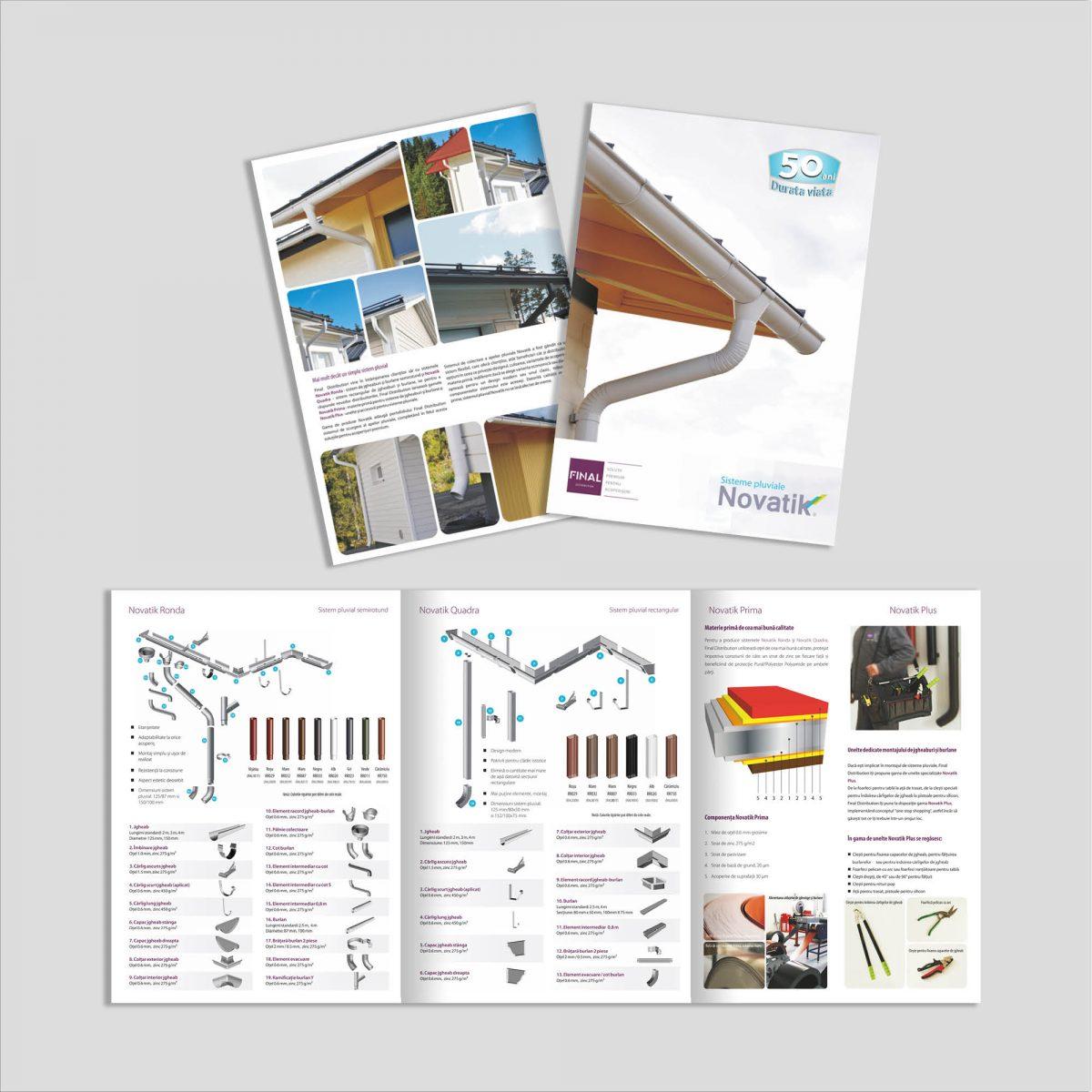 Graphic Design broșură sisteme acoperiș