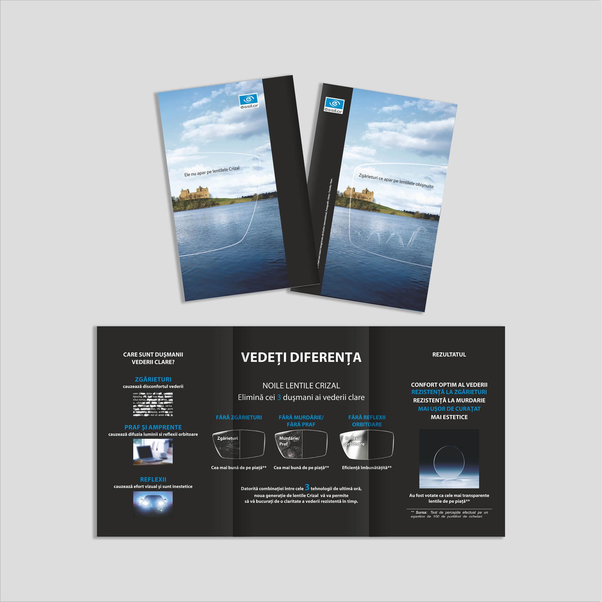 Graphic Design broșură (trifold) optică medicală