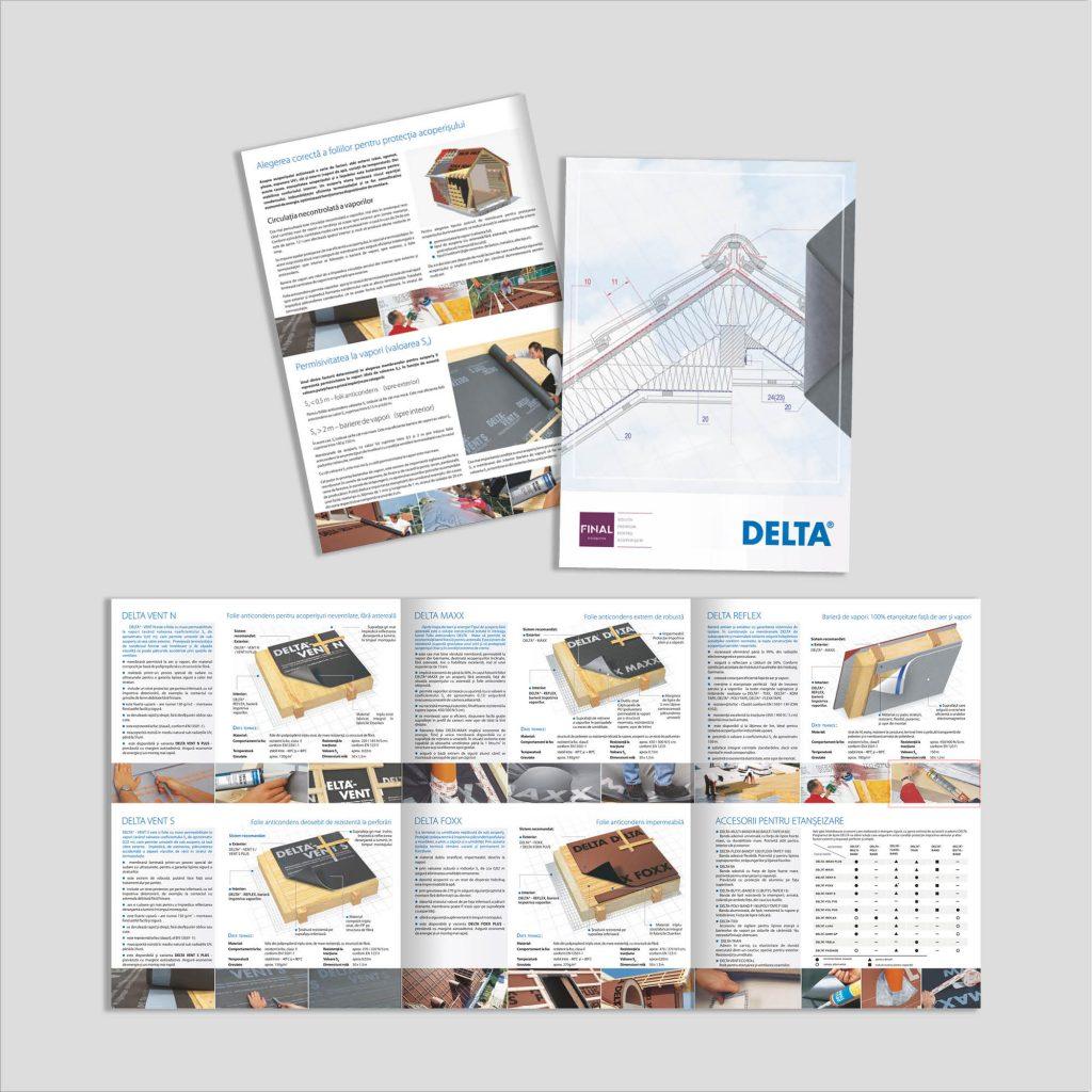 Graphic design: broșură soluții protecție acoperiș