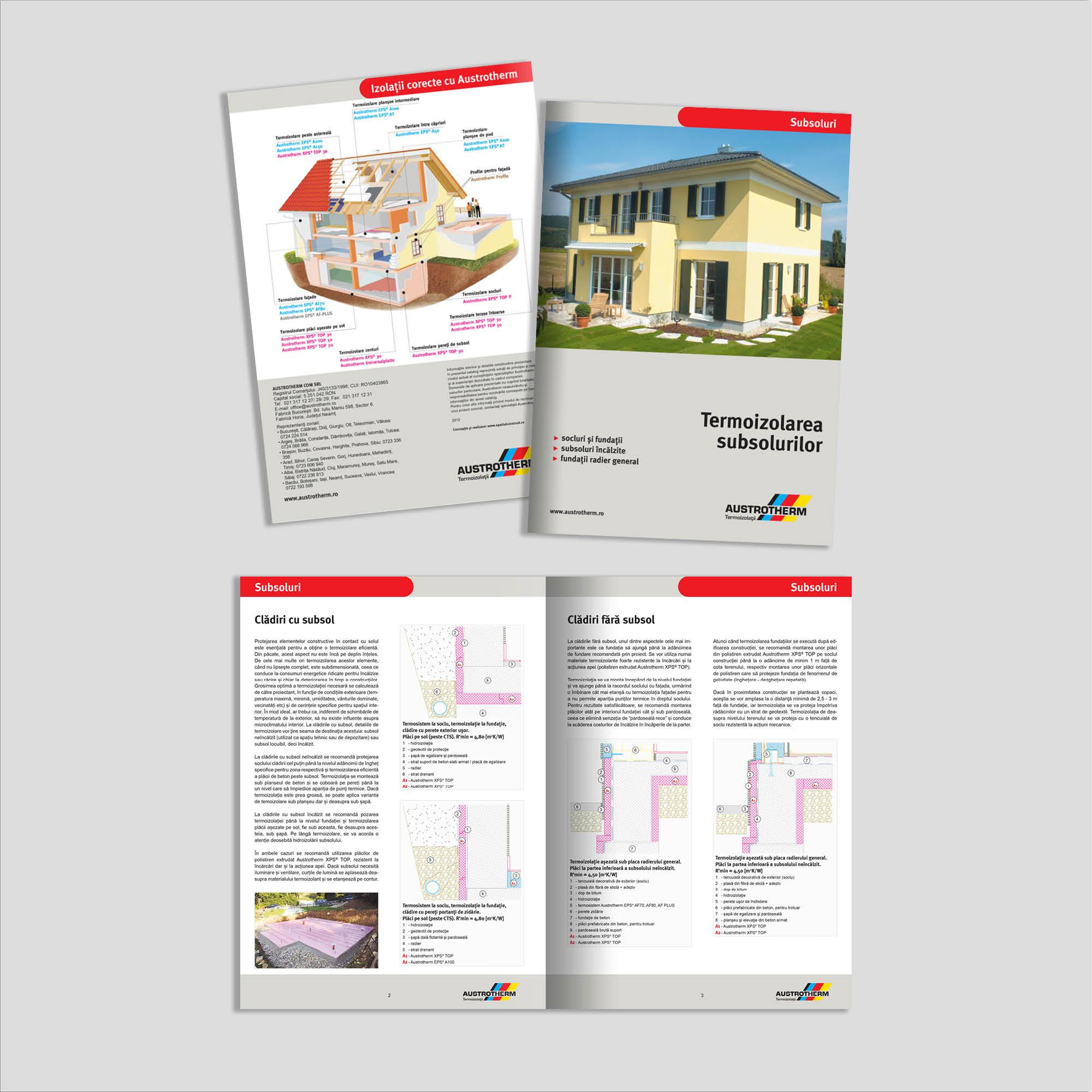 Graphic design: broșură termoizolare