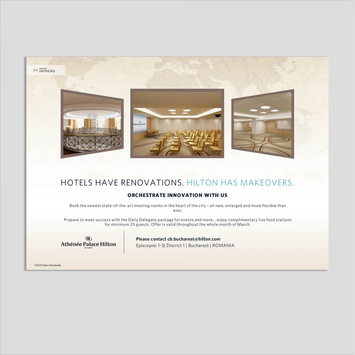Graphic design flyer hotel meetings