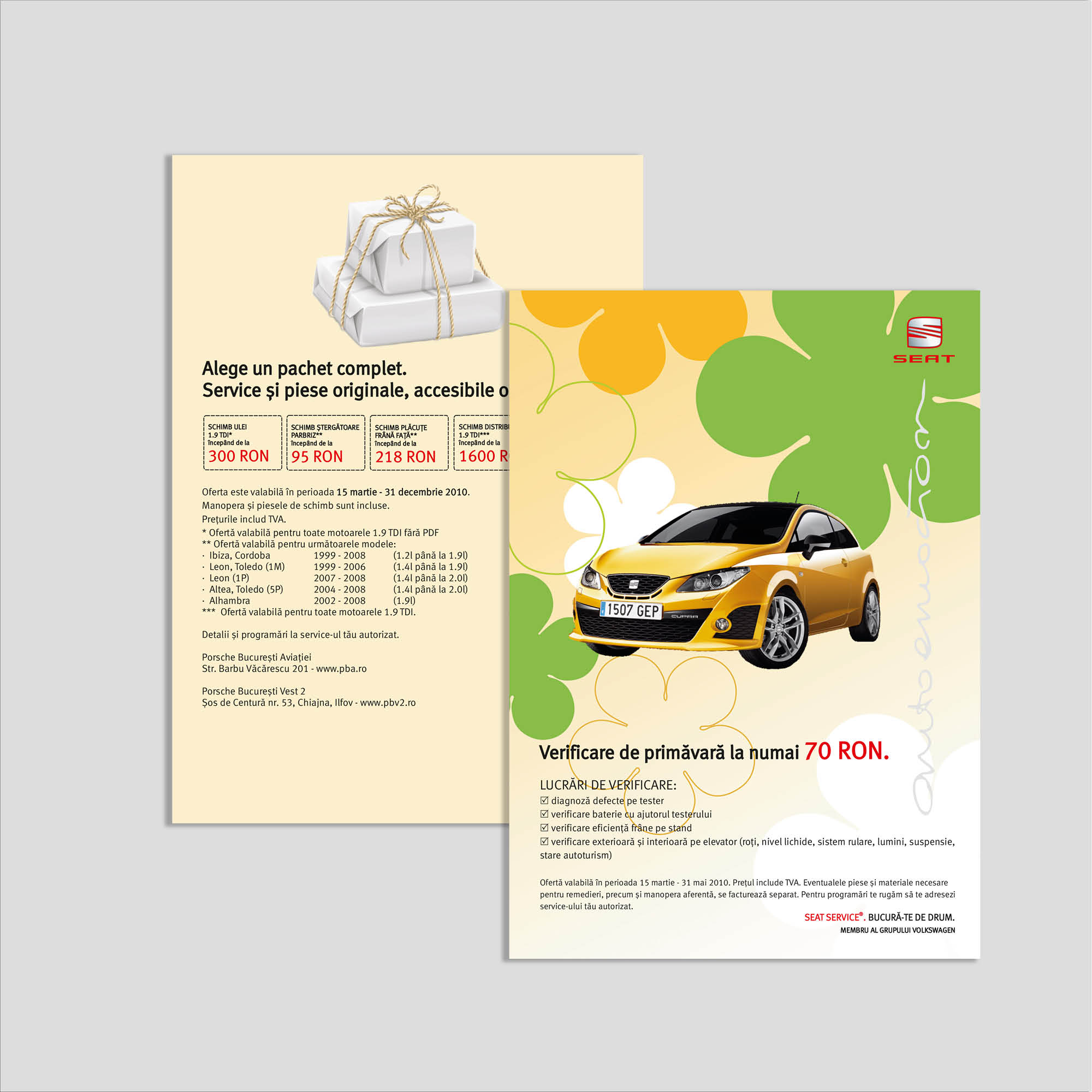 Graphic design flyer verificare auto