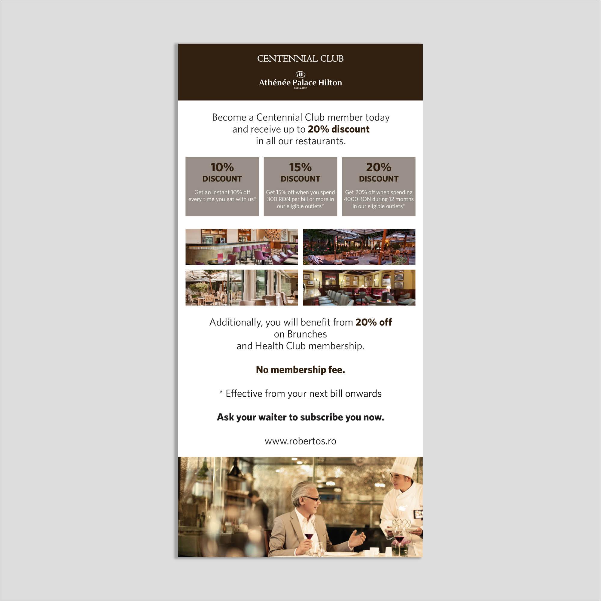 Graphic design: flyer beneficii