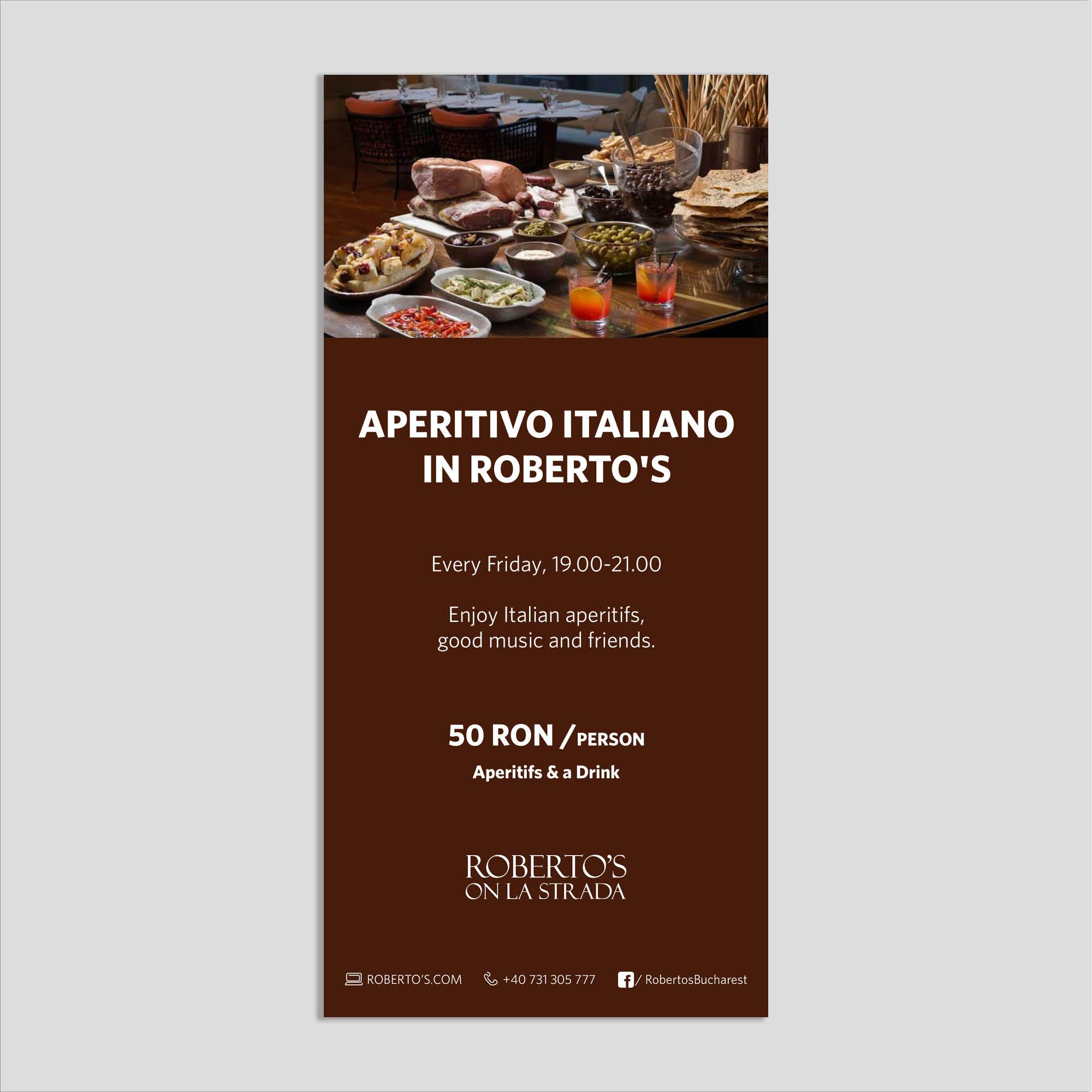 Graphic design: flyer aperitivo italiano