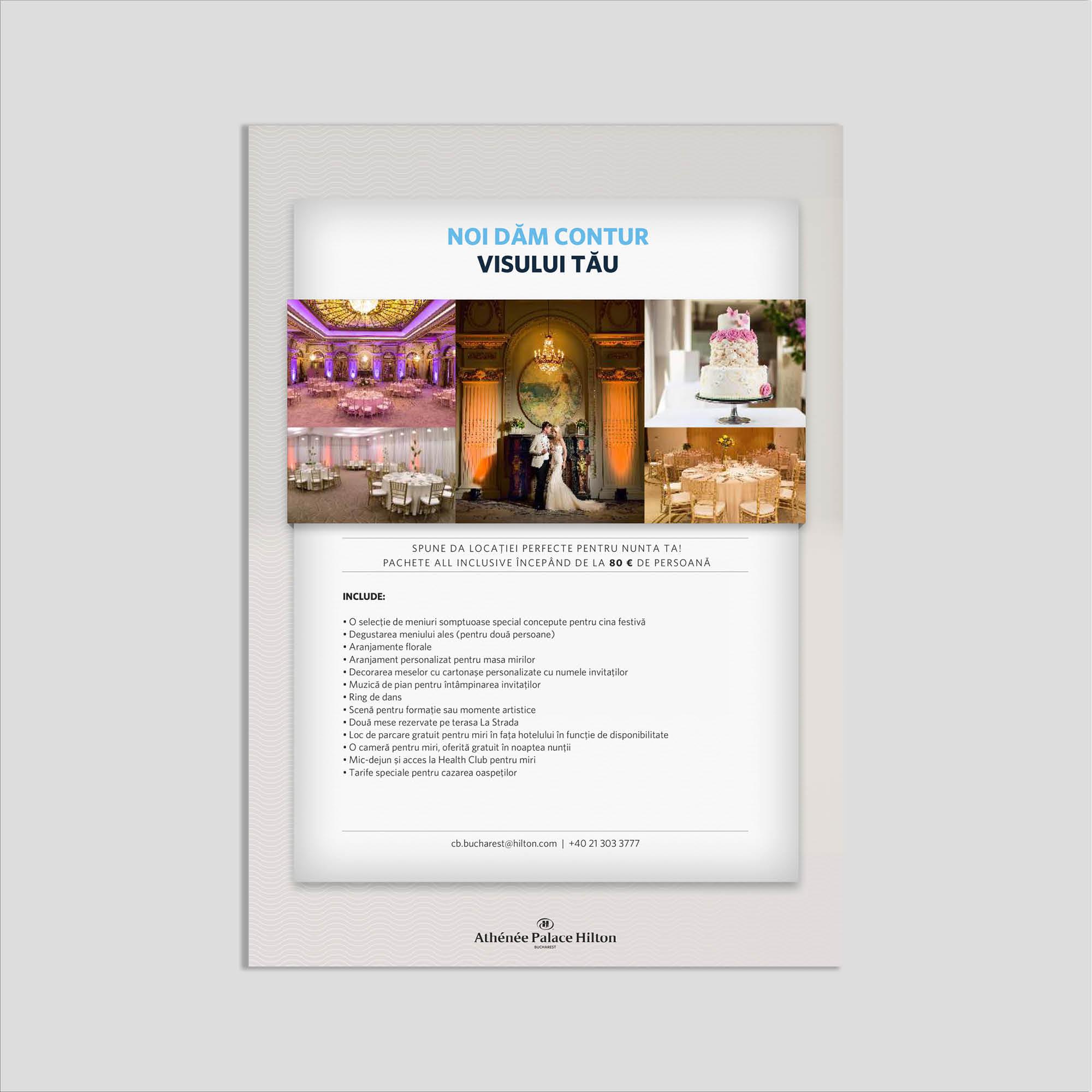 Graphic design: flyer locaíe pentru nuntă