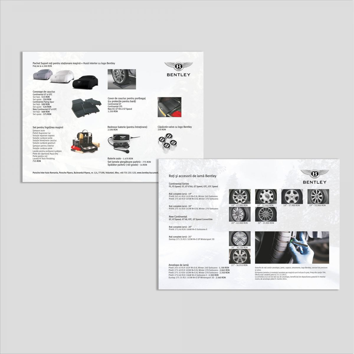 Graphic design: flyer accesorii auto