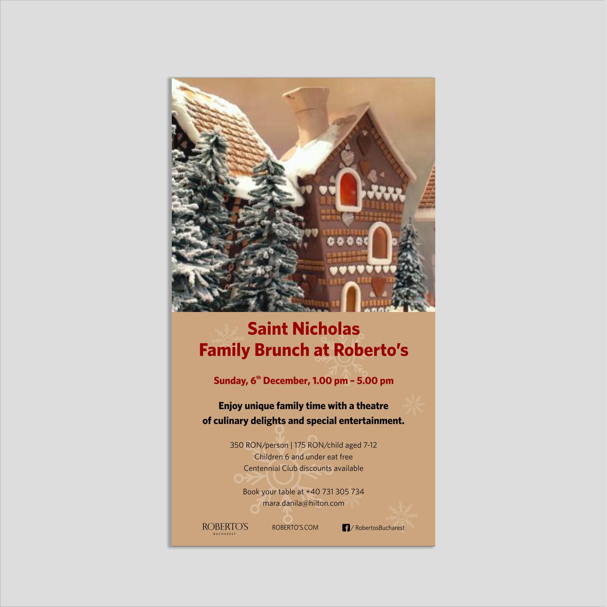 Graphic design: flyer St. Nicholas brunch