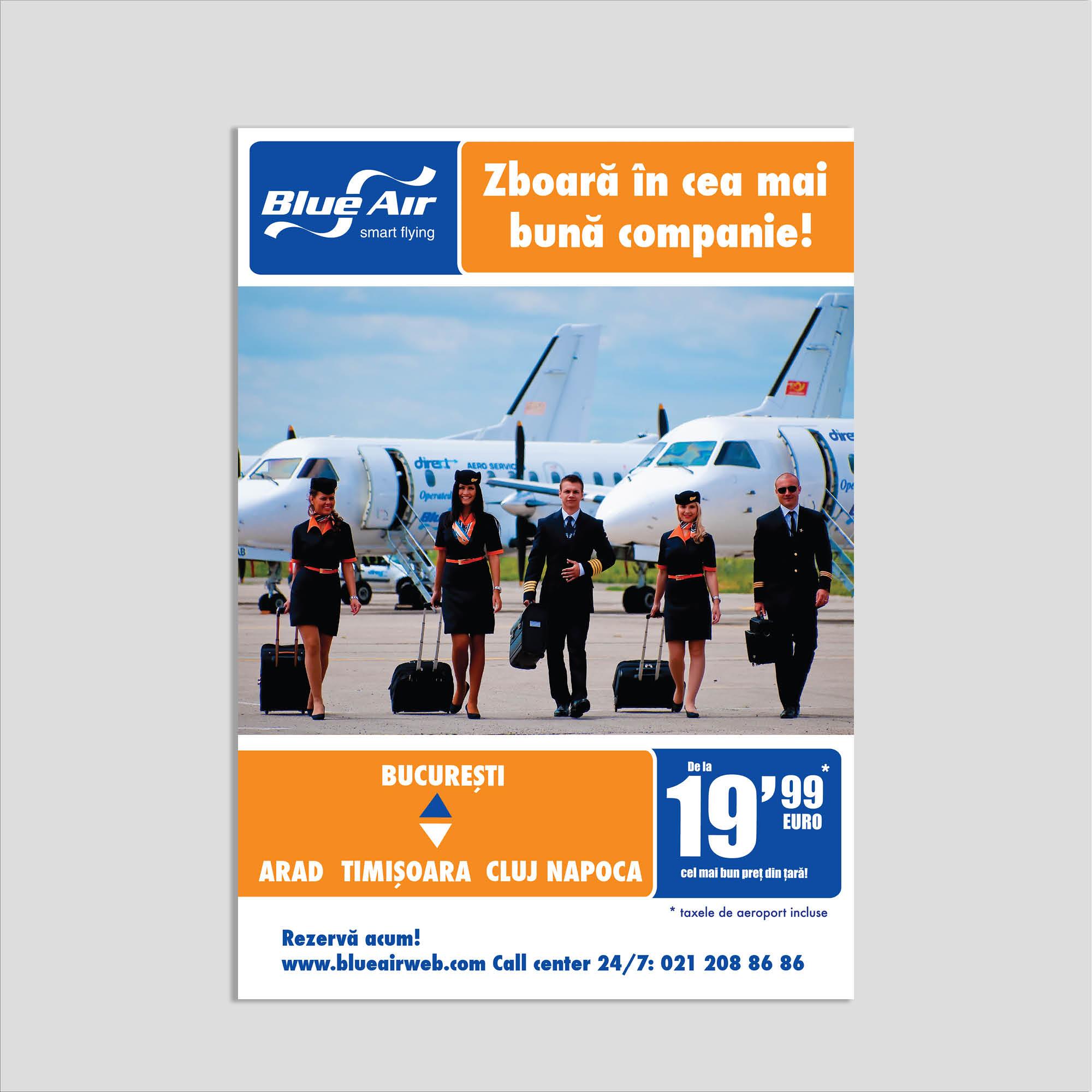 Graphic design: poster companie aviatică