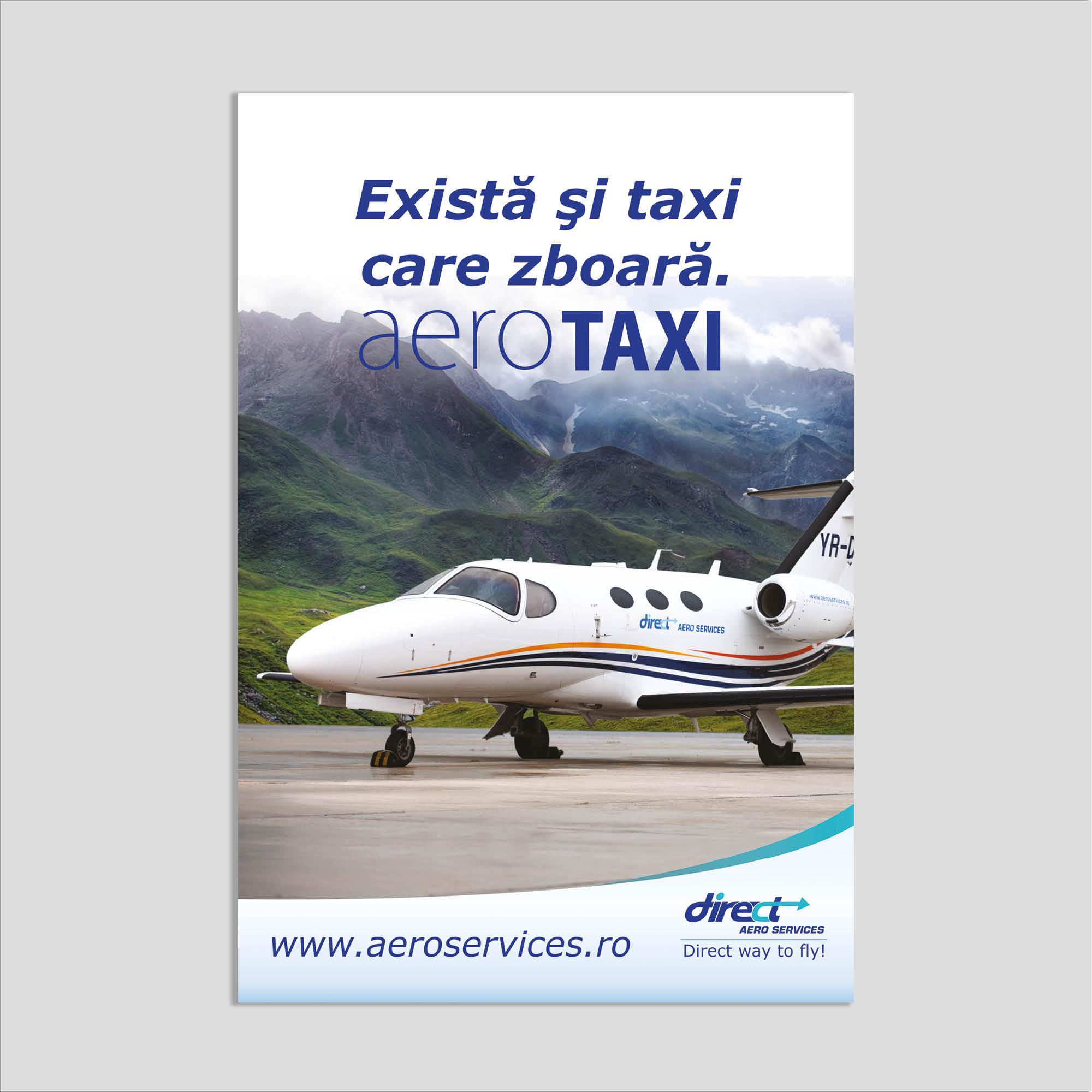 Graphic design: poster aerotaxi