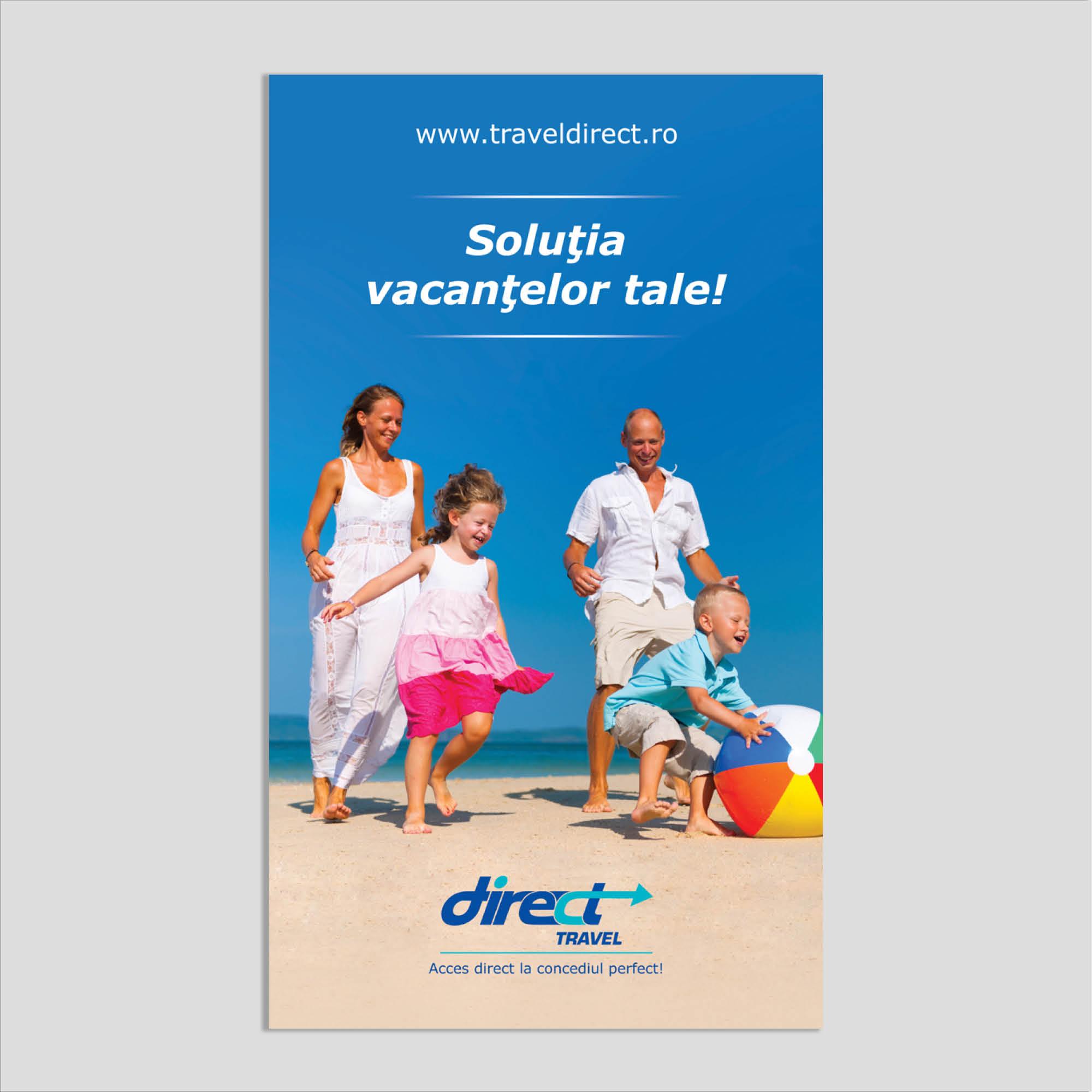 Graphic design: flyer vacanțe