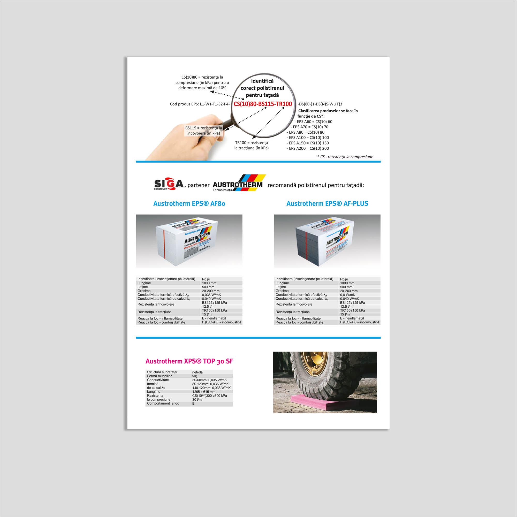 Graphic design: flyer polistiren