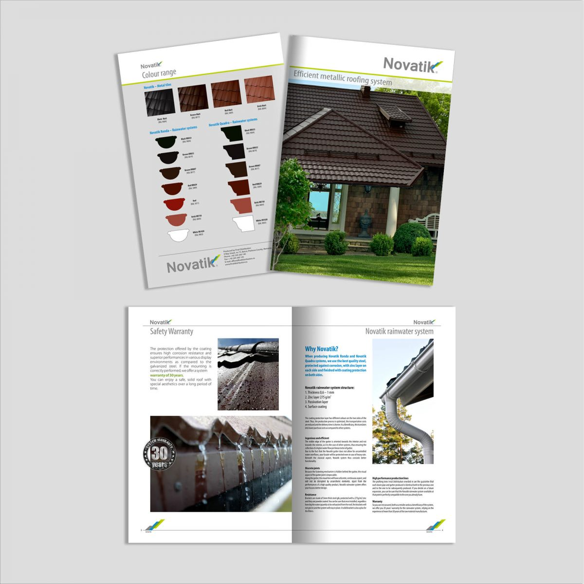 Graphic Design: Broșură Acoperișuri