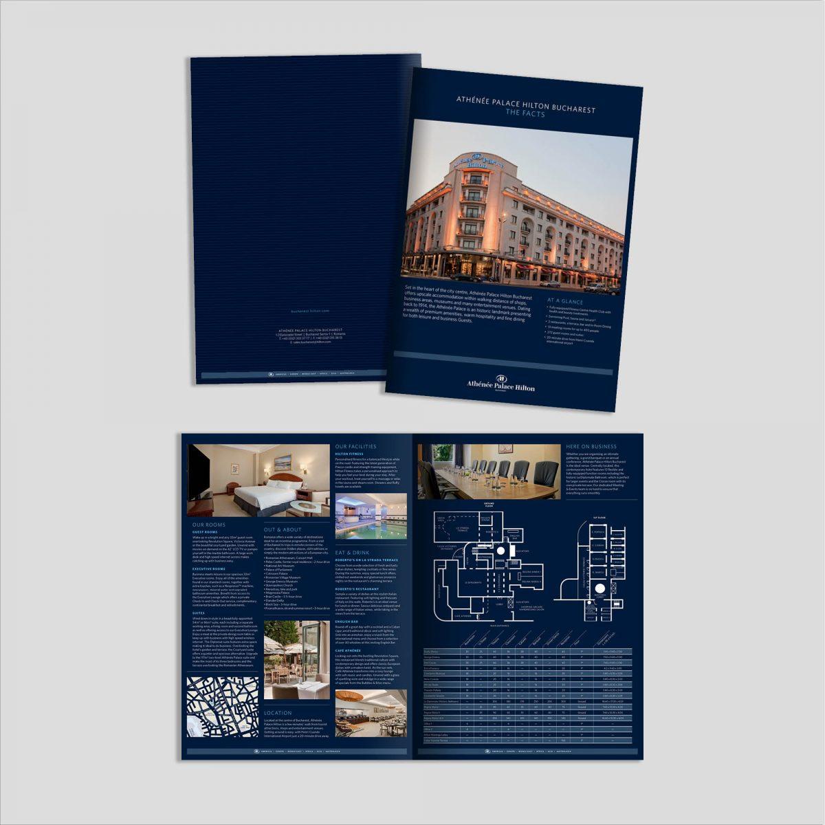 Graphic Design: Broșură Prezentare Hotel