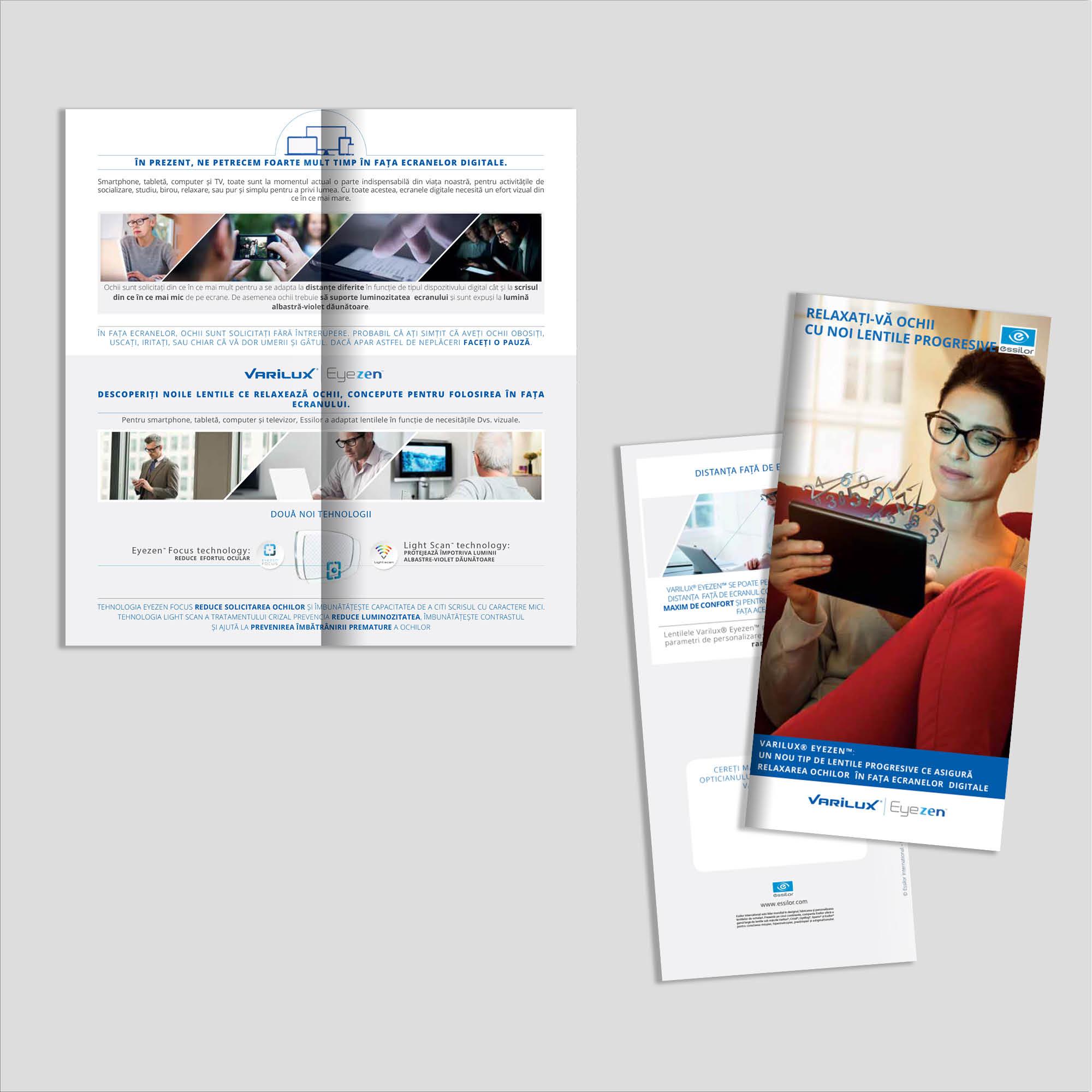Graphic design: broșură lentile progresive