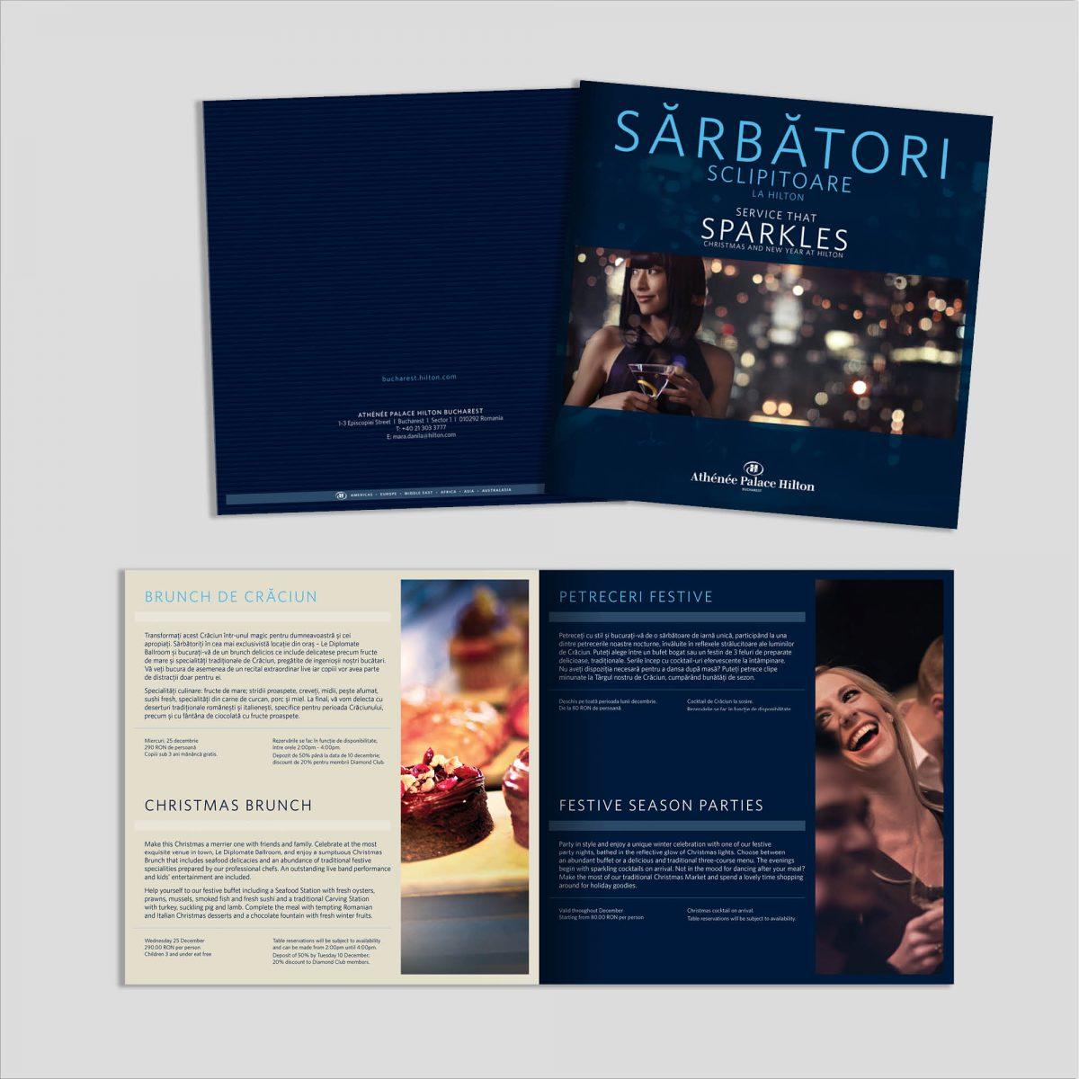 Graphic Design: Broșură Sărbători
