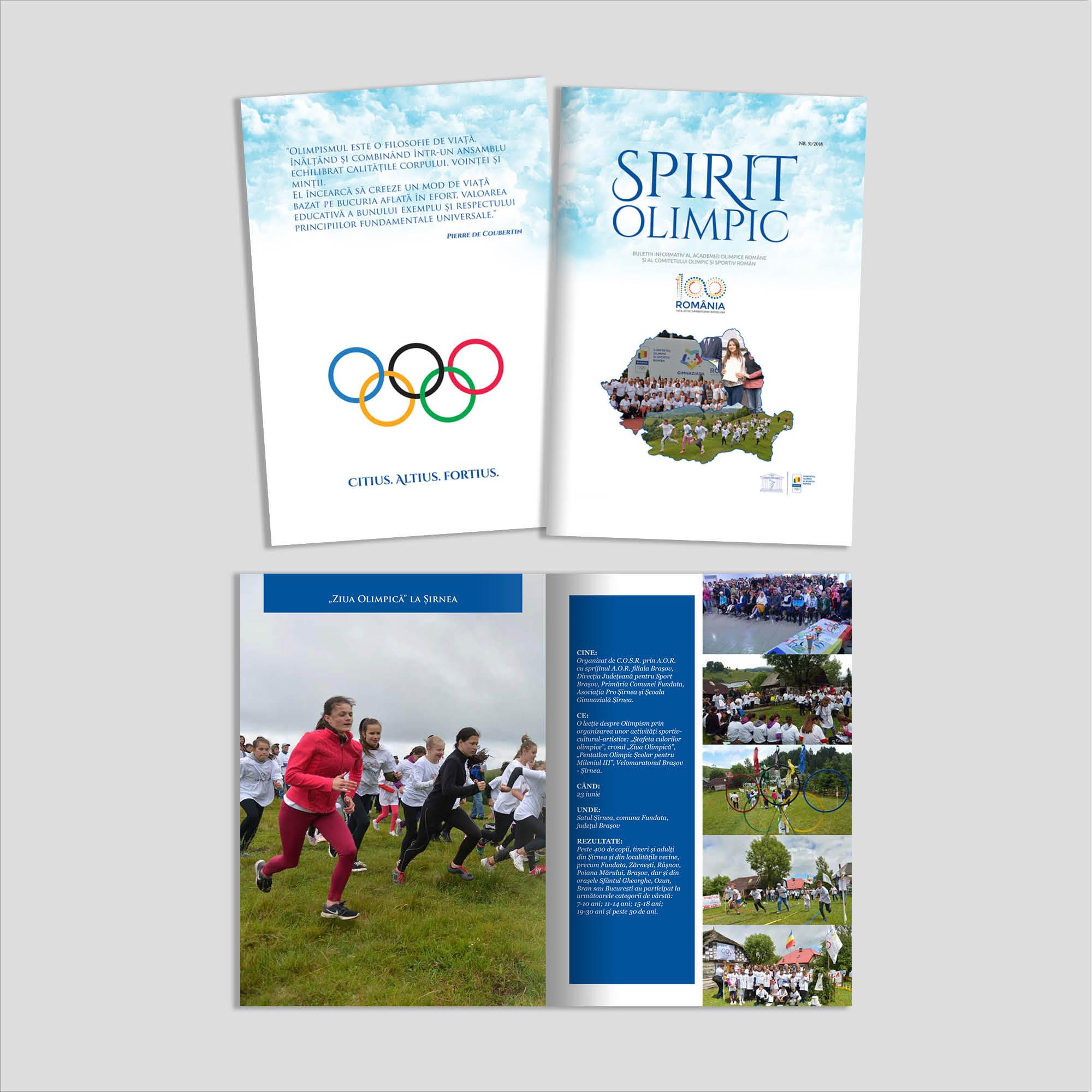 Graphic design: broșură Spirit Olimpic