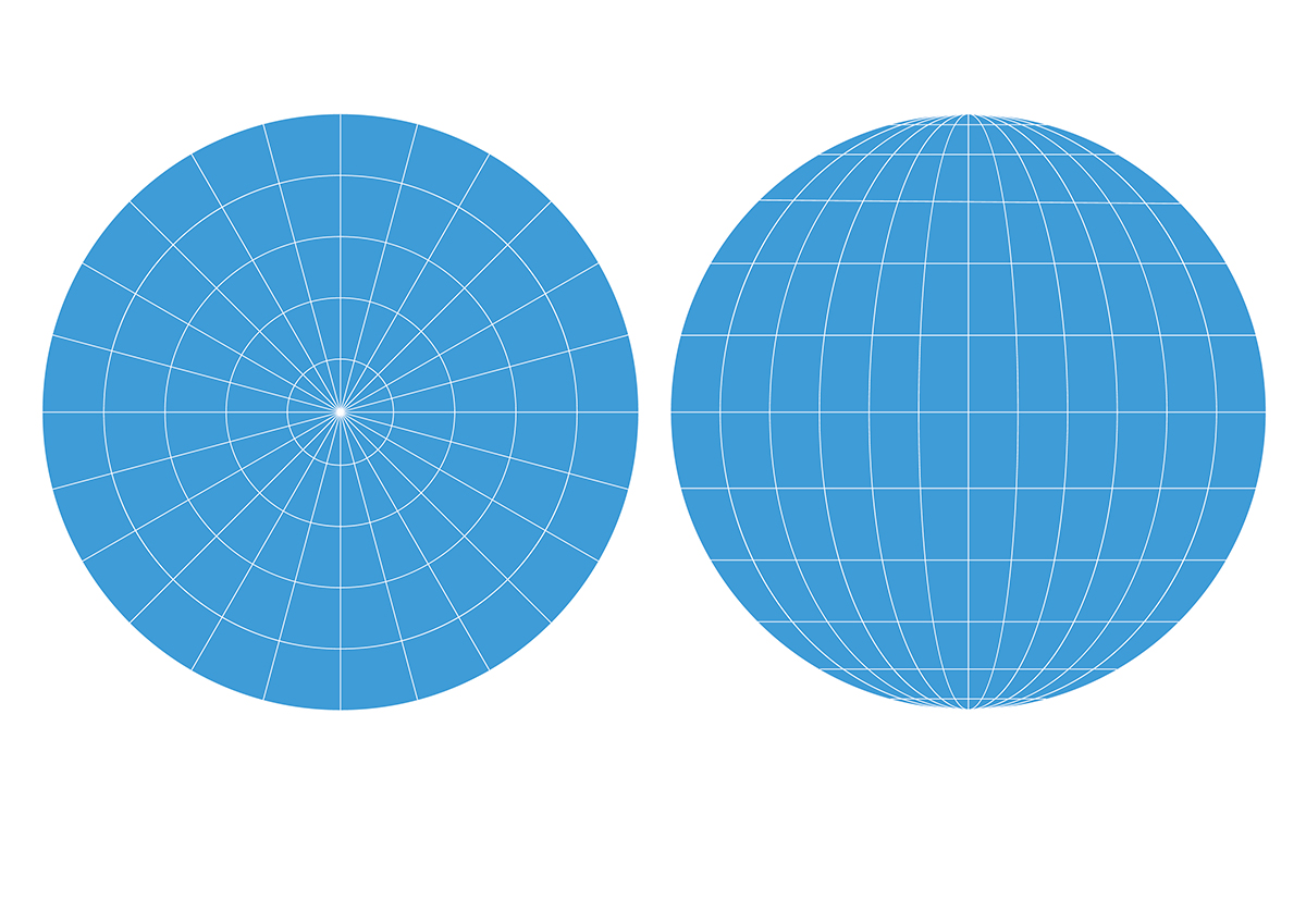 Ilustrație Digitală: Planeta Pământ Cu Meridiane și Paralele