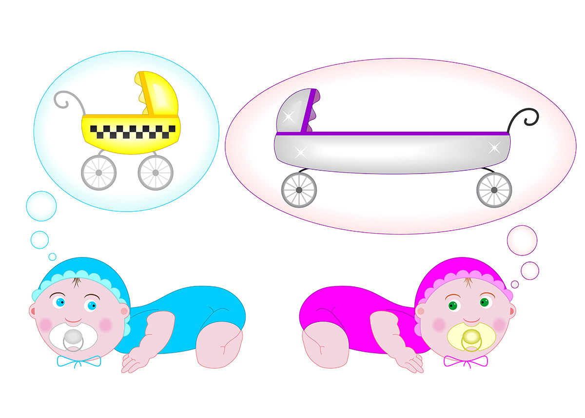 Ilustrație (desen digital) - Bebeluși
