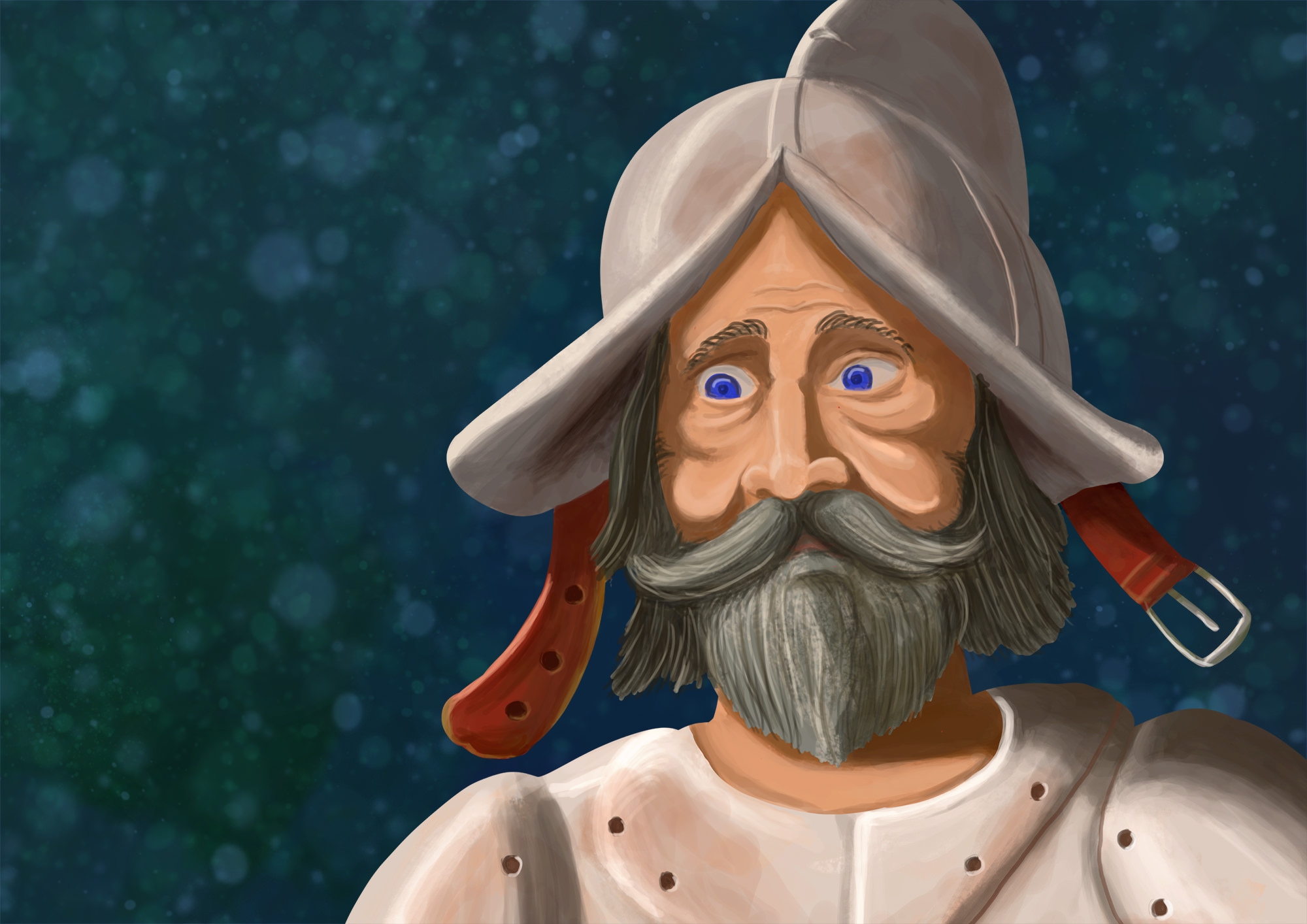 Ilustrație (desen digital) - Don Quijote & Sancho Panza (detaliu)
