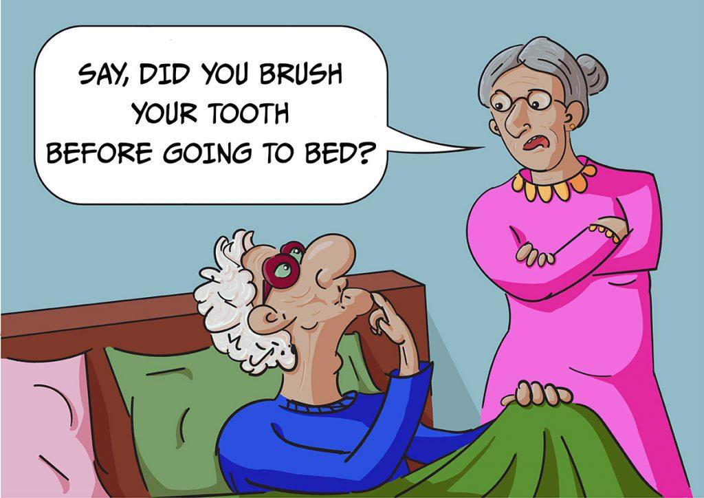 Ilustrație digitală (caricatură): La bătrînețe