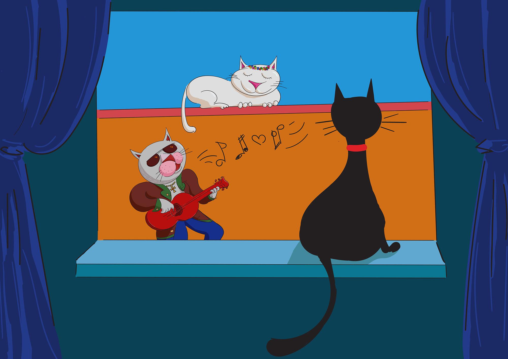 Ilustrație (desen digital) - The Poveste cu pisici